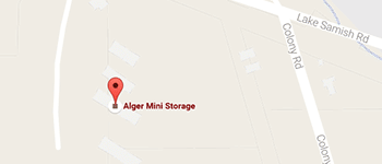Alger Mini Storage Bellingham Map and Directions
